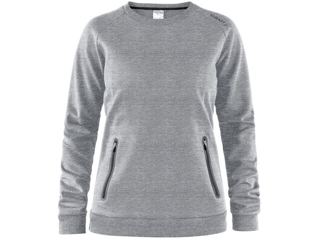 Craft Emotion Sweat-shirt manches longues à col ras-du-cou Femme, grey melange